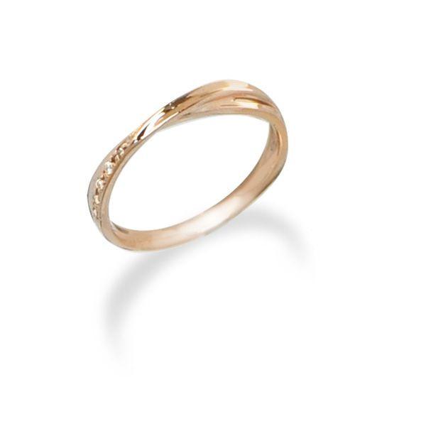 【刻印無料】K10ピンクゴールドリング~お好きな素材やカラーが選べる~【LSR0656DPK】◆Lovers & Ring ラバーズリング◆