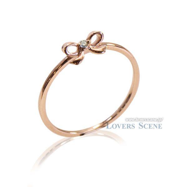 ◆Lovers & Ring ラバーズリング◆K10ピンクゴールドリング~Promise/約束~【LSR6002DPK】