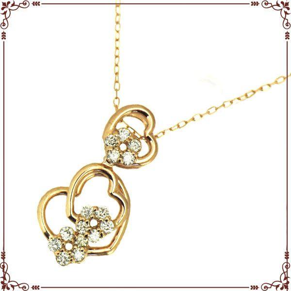 ◆最高級ダイヤモンドジュエリー◆ K18ピンクゴールド ハートモチーフ ネックレス【P1612CH-PG】