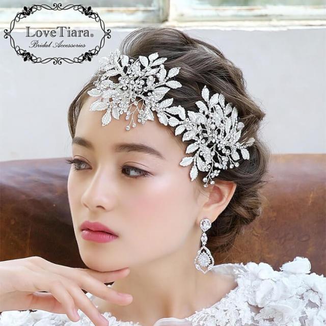 ヘッドドレス ウエディング ブライダル 結婚式 小枝アクセサリー