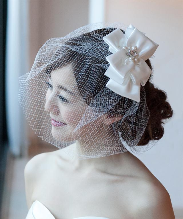 ヘッドドレス バードケージベール  ウエディング ブライダル 結婚式