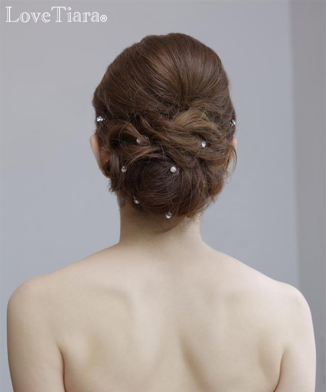 結婚式 ブライダル ウェディング ヘッドドレス ヘアピン ヘアツイスト