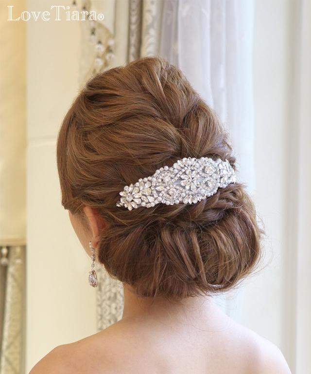 ヘッドドレス ビジュー ウエディング 結婚式 ブライダル
