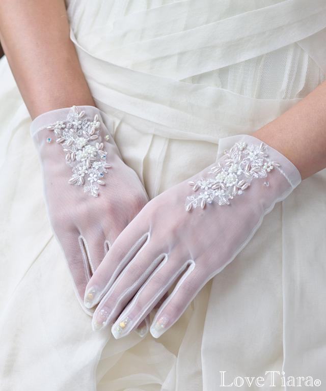 グローブ オーガンジー ウエディング 結婚式 ブライダル