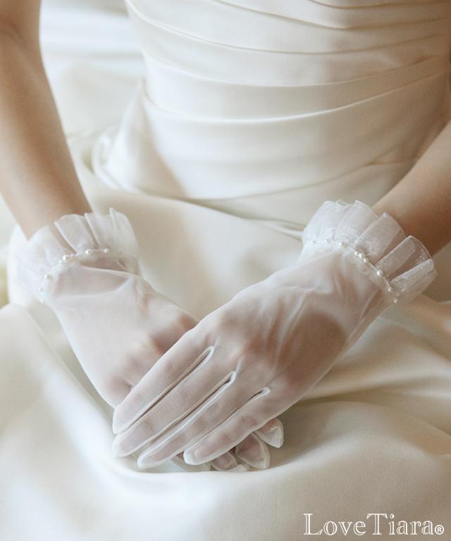 グローブ オーガンジー ウエディング ブライダル 結婚式