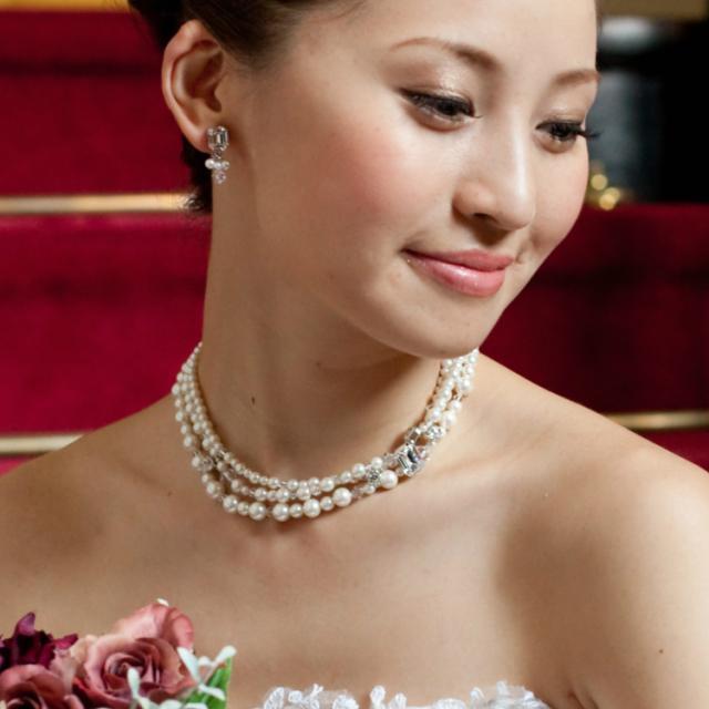 ネックレス イヤリング ピアス パール 結婚式 ブダイダルアクセサリー ウェディングアクセサリー ウェディングアイテム