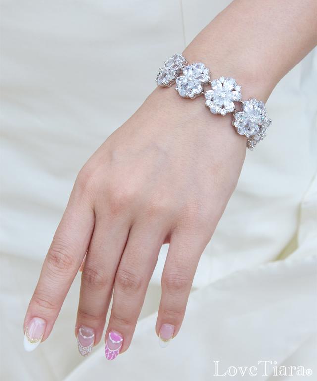 ブレスレット ジルコニア ビジュー ウェディング 結婚式 ブライダル