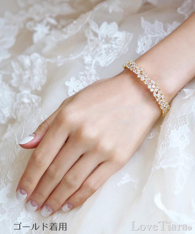 ブレスレット バングル ビジュー ウェディング 結婚式