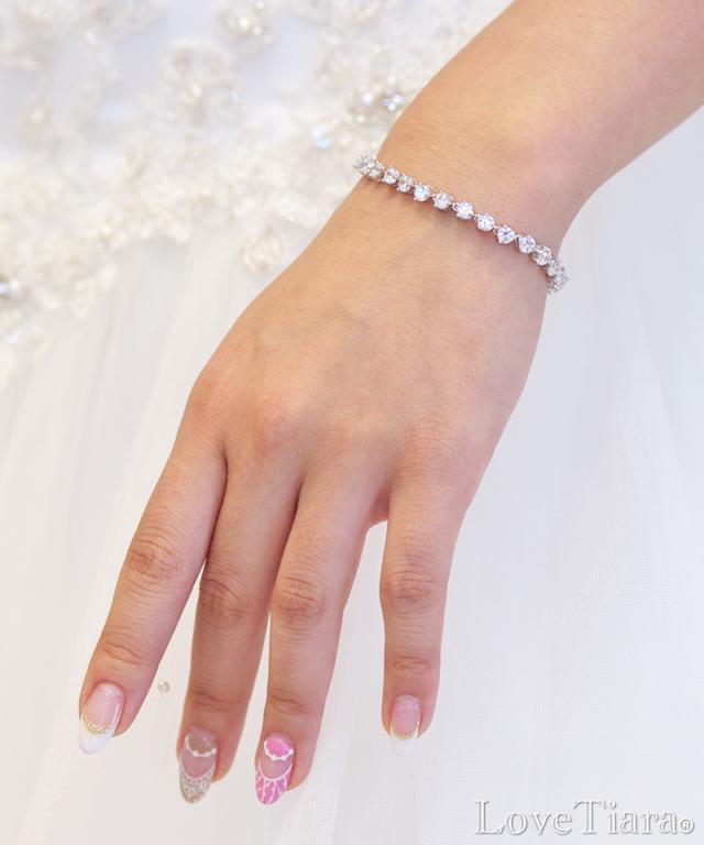 ブレスレット ジルコニア ウェディング ブライダル 結婚式
