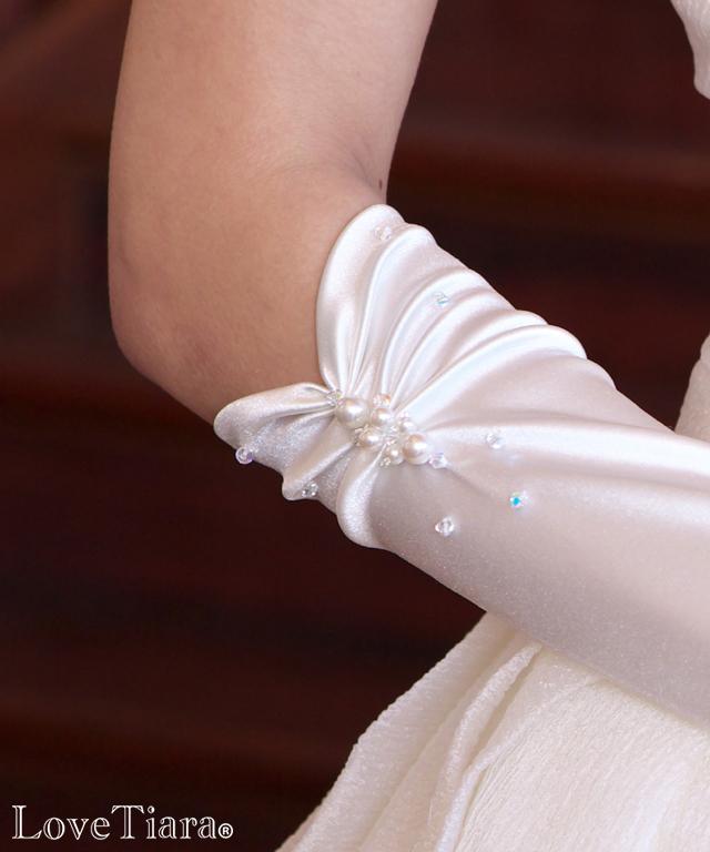 グローブ サテン ウエディング 結婚式 ブライダル