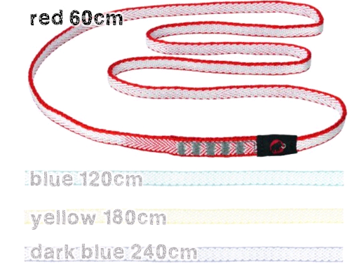 コンタクトスリング(Contact Sling Dyneema) 8.0 red 60cm - マムート(mammut)