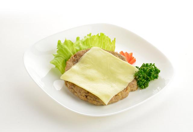 ドクター荒木の健康小麦ふすまパン【断糖チーズバーガー】具材イメージ