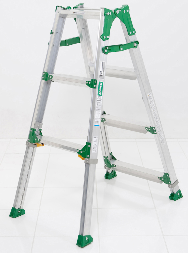 伸縮足付はしご兼用脚立PRH0912FX