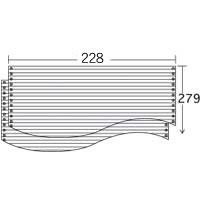ストックフォーム 9×13 罫線入 (2000枚) 1P ≪送料無料≫