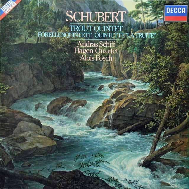 シフ&ハーゲン四重奏団のシューベルト/「ます」 蘭DECCA 2825 LP レコード
