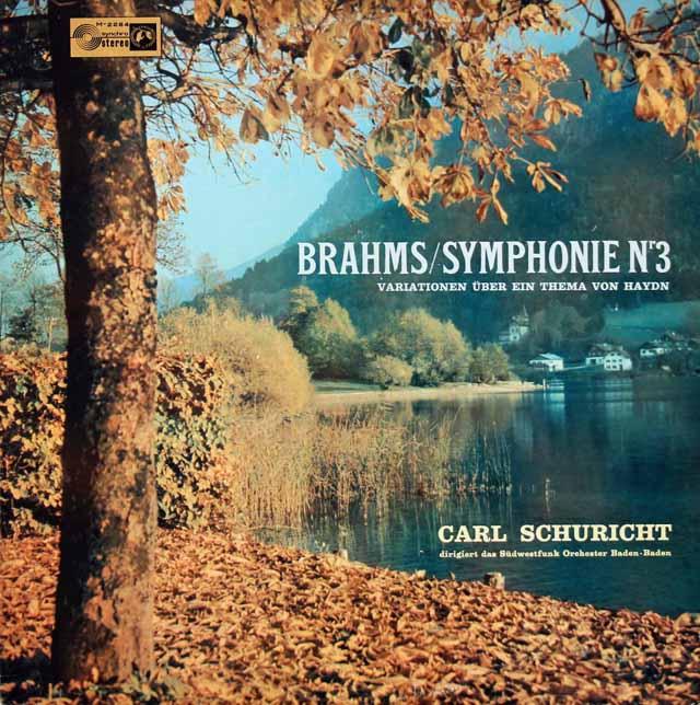 シューリヒトのブラームス/交響曲第3番ほか 独CH 3037 LP レコード