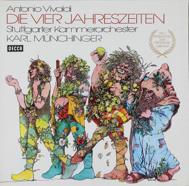 ミュンヒンガーのヴィヴァルディ/「四季」 独DECCA 2750 LP レコード