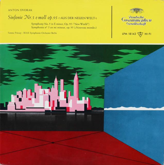フリッチャイのドヴォルザーク/交響曲第9(5)番「新世界より」 独DGG 3286 LP レコード