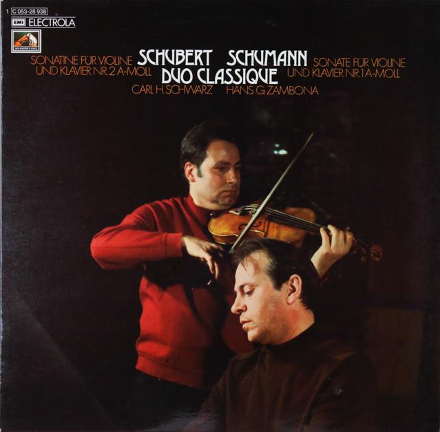 デュオ・クラシックのシューベルト&シューマン/ヴァイオリンソナタ集 独EMI 3286 LP レコード
