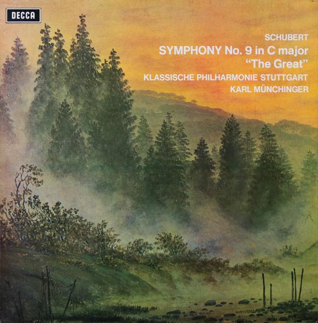 ミュンヒンガーのシューベルト/交響曲第9番「グレイト」 オリジナル盤 英DECCA 2805 LP レコード
