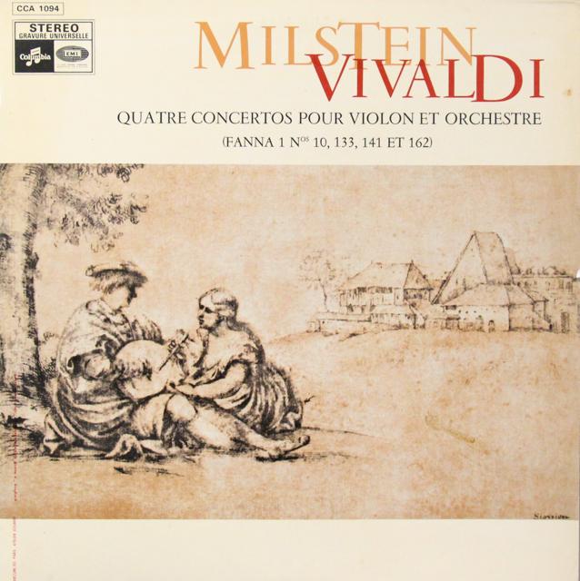 ミルシュタインのヴィヴァルディ/ヴァイオリン協奏曲集 仏Columbia 3298 LP レコード