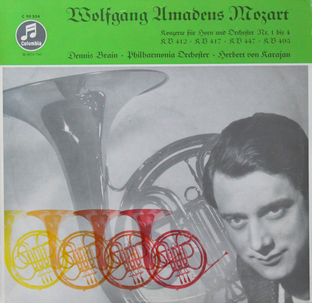 ブレイン&カラヤンのモーツァルト/ホルン協奏曲集 独Columbia 3298 LP レコード