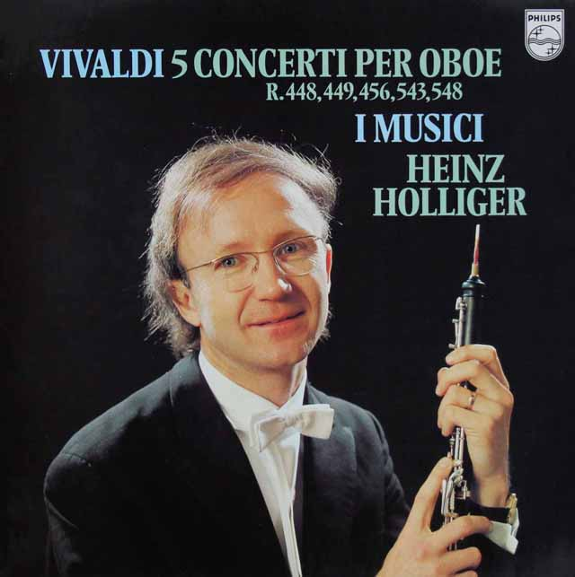ホリガー&イ・ムジチのヴィヴァルディ/オーボエ協奏曲集 蘭PHILIPS 3286 LP レコード