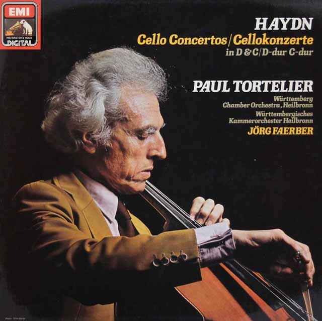 トルトゥリエのハイドン/チェロ協奏曲集 独EMI 3286 LP レコード