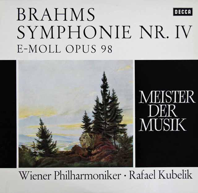 クーベリックのブラームス/交響曲第4番 独DECCA 3286 LP レコード