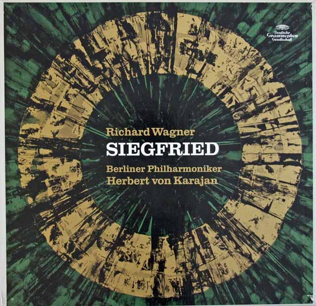 【直筆サイン入り】 カラヤンのワーグナー/楽劇「ジークフリート」全曲 独DGG 3284 LP レコード