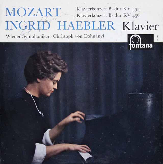 【直筆サイン入り】 ヘブラー&ドホナーニのモーツァルト/ピアノ協奏曲第27&18番 蘭fontana 3284 LP レコード
