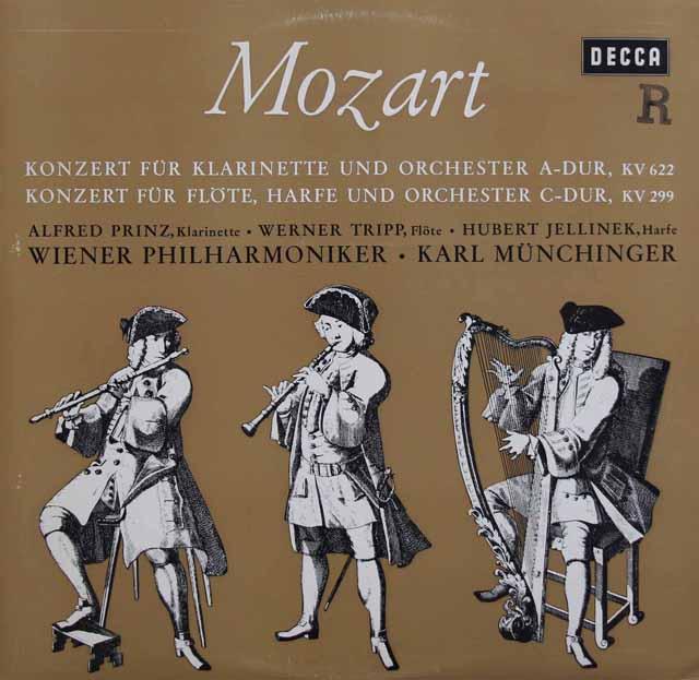 プリンツ&ミュンヒンガーのモーツァルト/クラリネット協奏曲ほか 独DECCA 2919 LP レコード