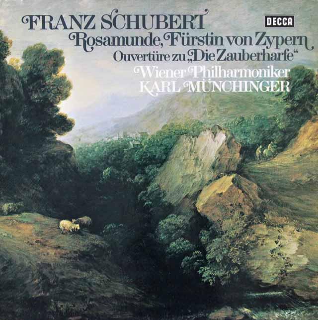 ミュンヒンガーのシューベルト/「ロザムンデ」全曲  独DECCA 2921 LP レコード