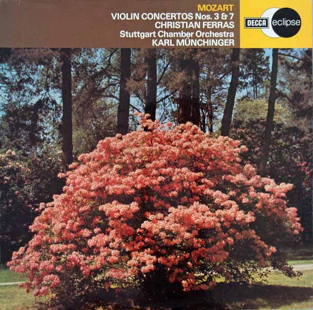 フェラス&ミュンヒンガーのモーツァルト/ヴァイオリン協奏曲第3&7番 英DECCA 2923 LP レコード