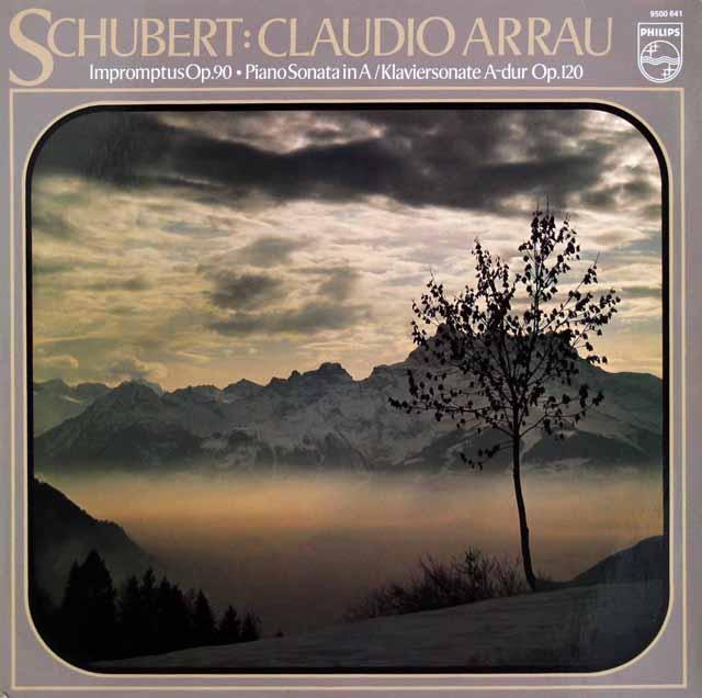 アラウのシューベルト/4つの即興曲ほか 蘭PHILIPS 2927 LP レコード
