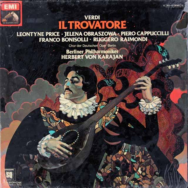 【未開封】 カラヤンのヴェルディ/「イル・トロヴァトーレ」全曲 独EMI 3281 LP レコード