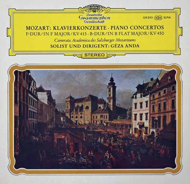 アンダのモーツァルト/ピアノ協奏曲第11&15番  独DGG 3399 LP レコード