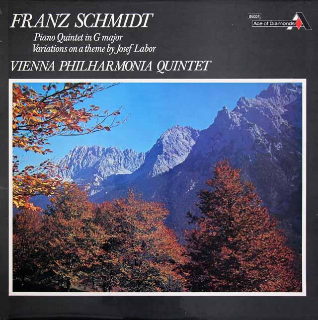ウィーン・フィル五重奏団のフランツ・シュミット/ピアノ五重奏曲ほか 英DECCA 3398 LP レコード