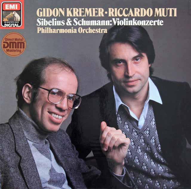 クレーメル&ムーティのシベリウス&シューマン/ヴァイオリン協奏曲 独EMI 3398 LP レコード
