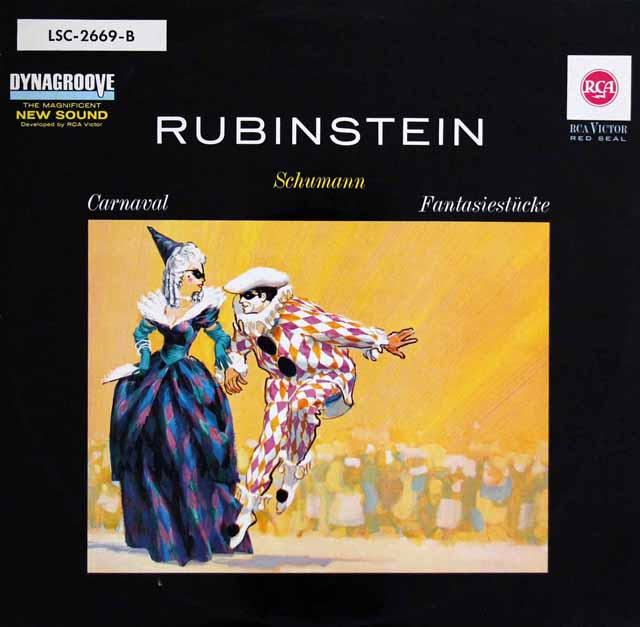 ルービンシュタインのシューマン/「謝肉祭」&「幻想小曲集」  独RCA 2940 LP レコード