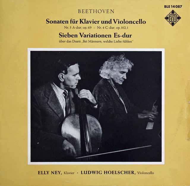 ナイ&ヘルシャーのベートーヴェン/チェロソナタ第3&4番 独TELEFUNKEN 2940 LP レコード