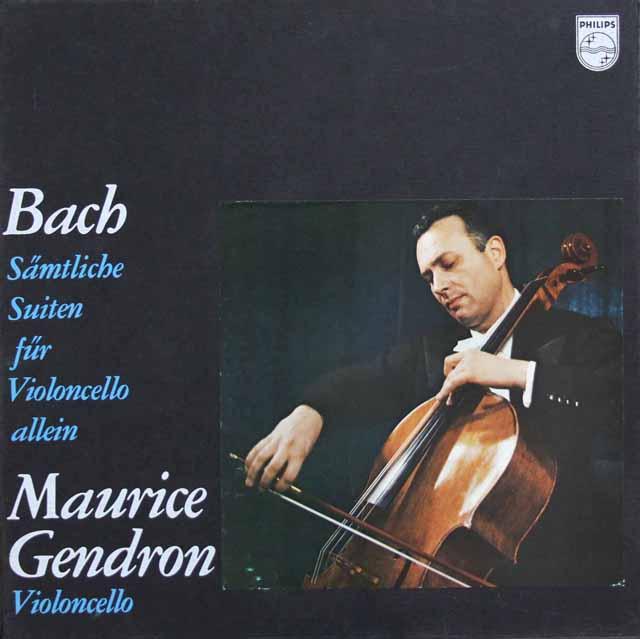 ジャンドロンのバッハ/無伴奏チェロ組曲全集  蘭PHILIPS 2942 LP レコード