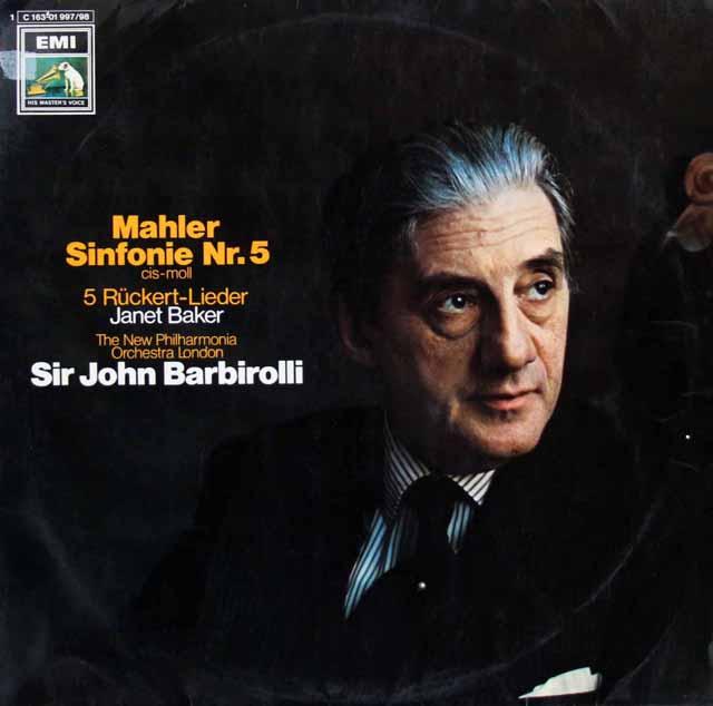 バルビローリのマーラー/交響曲第5番 独EMI 3396 LP レコード
