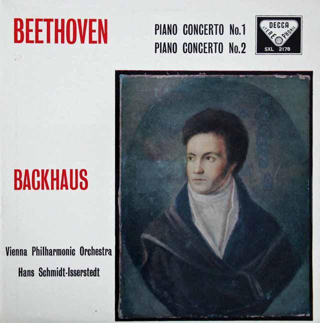 バックハウス&イッセルシュテットのベートーヴェン/ピアノ協奏曲第1&2番 英DECCA 3396 LP レコード