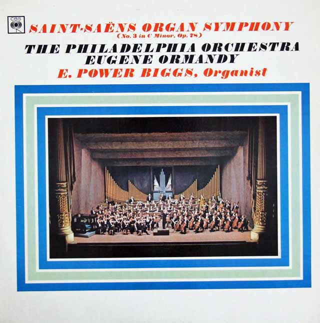 ビッグス&オーマンディのサン=サーンス/交響曲第3番「オルガン付」 英CBS 3396 LP レコード