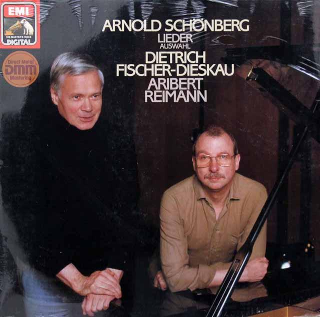 【未開封】 フィッシャー=ディースカウ、ライマンのシェーンベルク/歌曲集 独EMI 3395 LP レコード