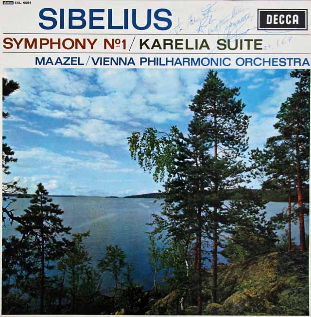 【直筆サイン入り】 マゼールのシベリウス/交響曲第1番ほか 英DECCA 3395 LP レコード