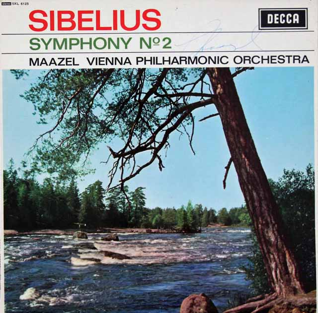 【オリジナル盤、直筆サイン入り】 マゼールのシベリウス/交響曲第2番 英DECCA 3395 LP レコード