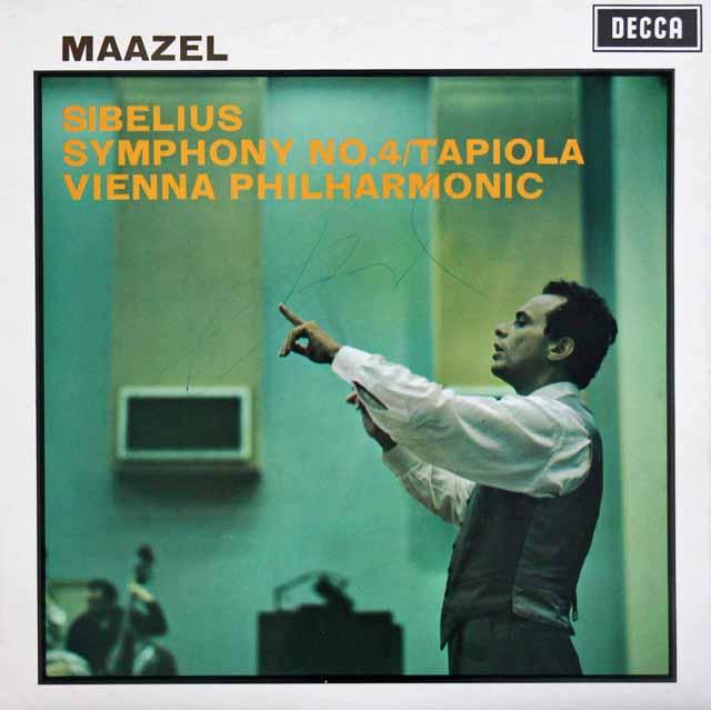 【オリジナル盤、直筆サイン入り】 マゼールのシベリウス/交響曲第4番ほか 英DECCA 3395 LP レコード