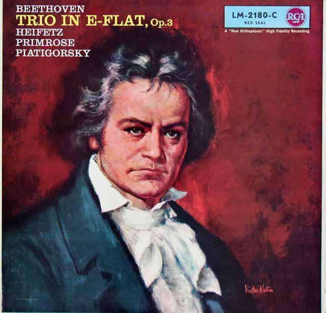 ハイフェッツらのベートーヴェン/弦楽三重奏曲第1番    独RCA 2948 LP レコード